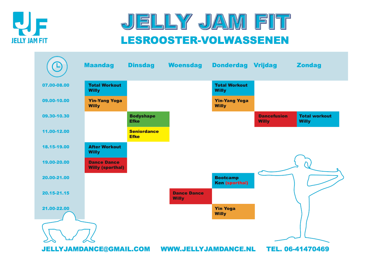 JJF lesrooster Jelly Jam Fit